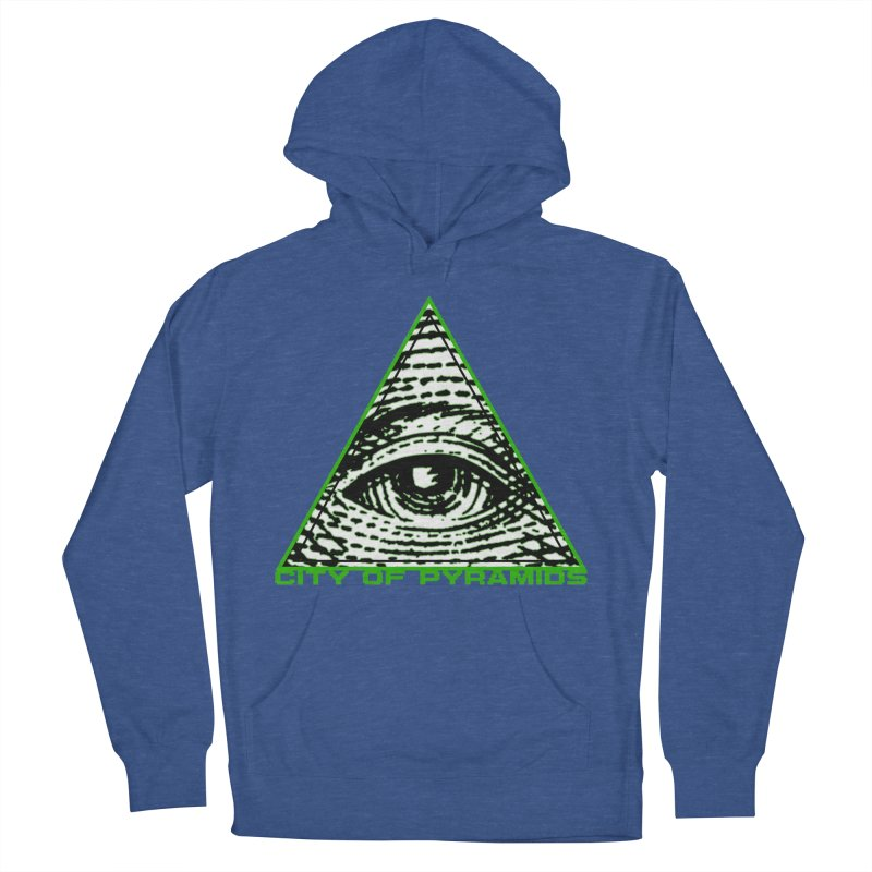 Eyeconic All Seeing Eye Men's French Terry Pullover Hoody by City of Pyramids's Artist Shop