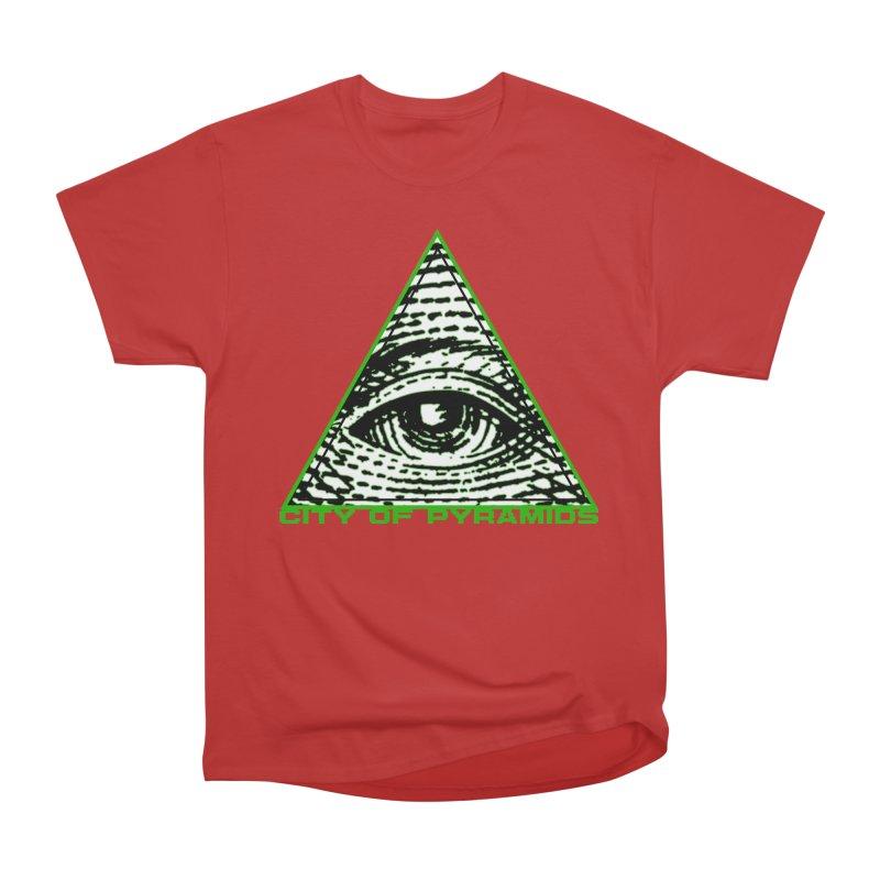 Eyeconic All Seeing Eye Men's Heavyweight T-Shirt by City of Pyramids's Artist Shop