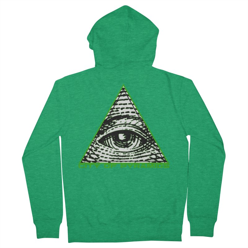 Eyeconic All Seeing Eye Women's French Terry Zip-Up Hoody by City of Pyramids's Artist Shop