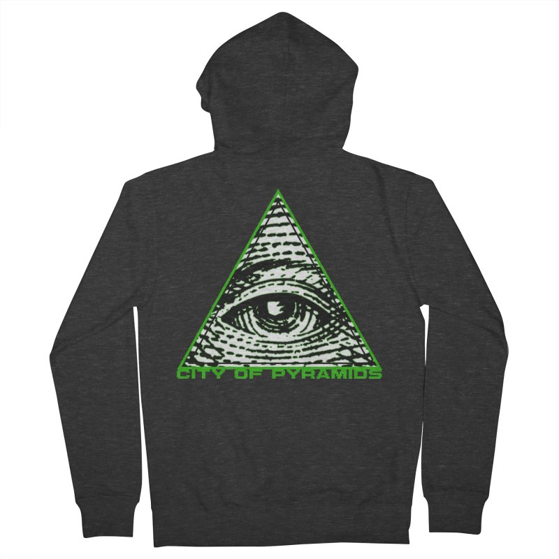Eyeconic All Seeing Eye Men's French Terry Zip-Up Hoody by City of Pyramids's Artist Shop