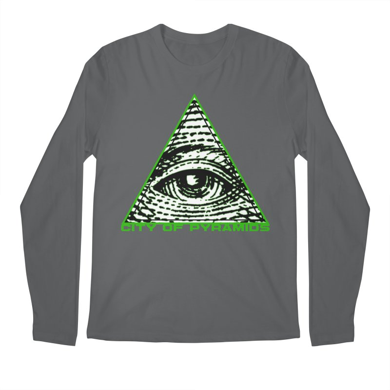 Eyeconic All Seeing Eye Men's Longsleeve T-Shirt by City of Pyramids's Artist Shop
