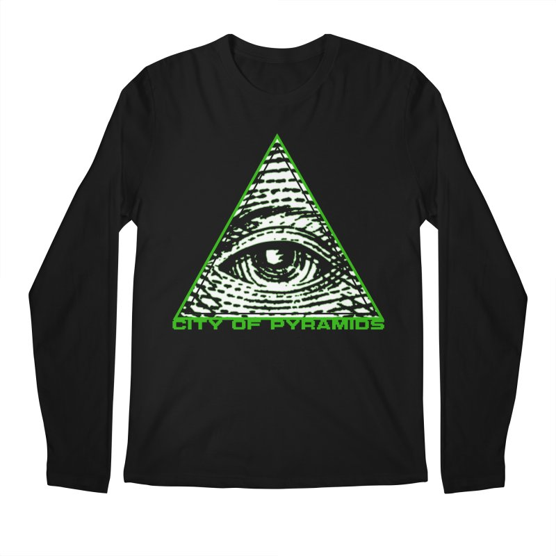 Eyeconic All Seeing Eye Men's Regular Longsleeve T-Shirt by City of Pyramids's Artist Shop