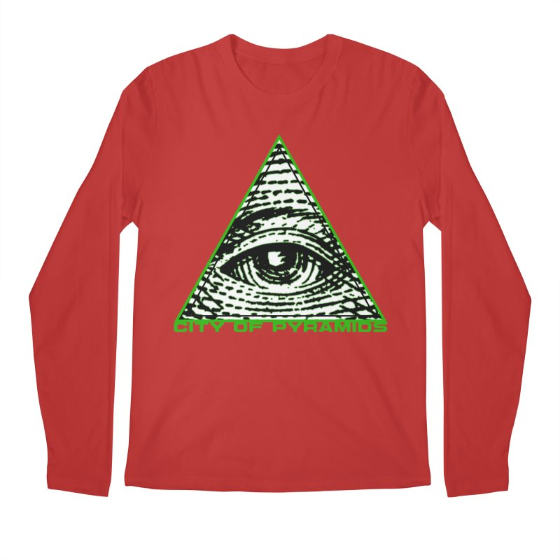 Eyeconic All Seeing Eye Men's Regular Longsleeve T-Shirt by City of Pyramids's Artist Shop