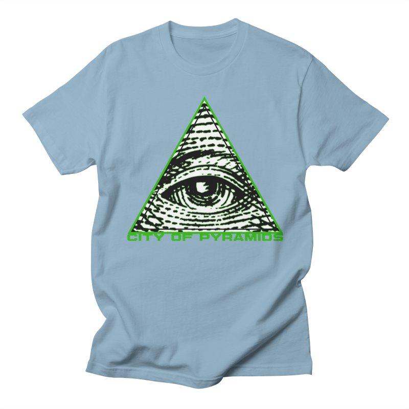 Eyeconic All Seeing Eye Men's Regular T-Shirt by City of Pyramids's Artist Shop