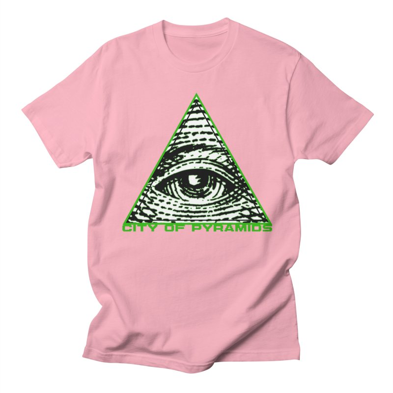Eyeconic All Seeing Eye Men's Regular T-Shirt by City of Pyramids's Artist Shop