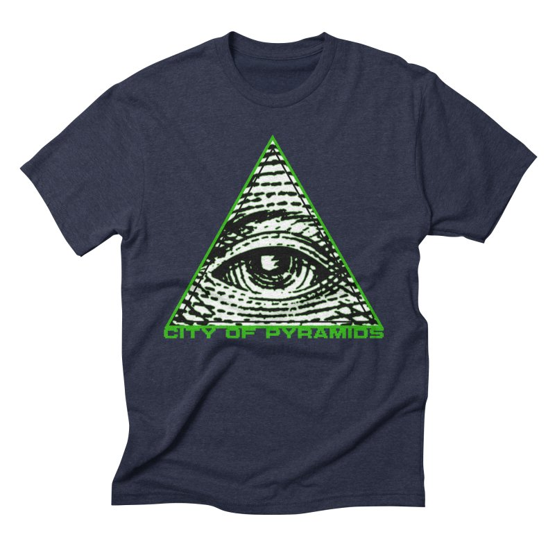 Eyeconic All Seeing Eye Men's Triblend T-Shirt by City of Pyramids's Artist Shop