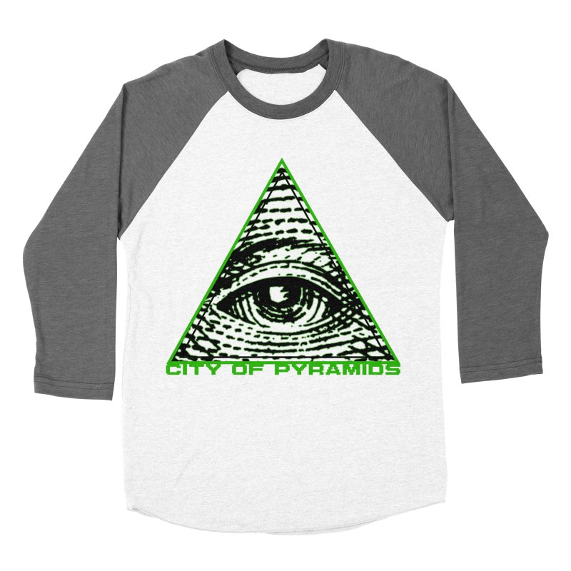 Eyeconic All Seeing Eye Women's Baseball Triblend Longsleeve T-Shirt by City of Pyramids's Artist Shop
