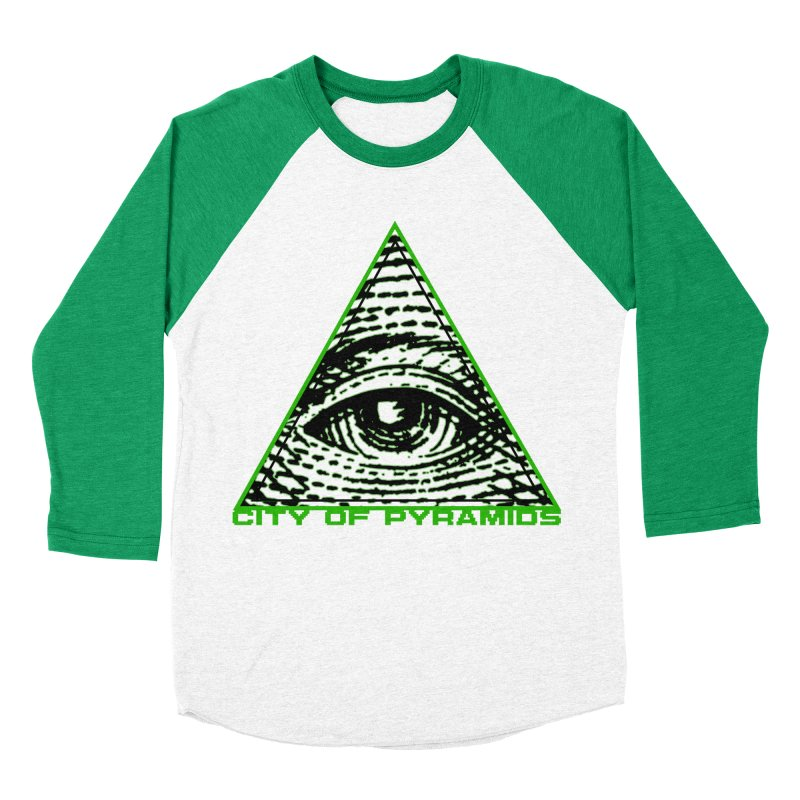 Eyeconic All Seeing Eye Women's Baseball Triblend Longsleeve T-Shirt by City of Pyramids's Artist Shop