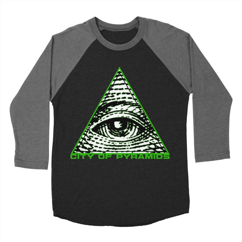Eyeconic All Seeing Eye Men's Baseball Triblend Longsleeve T-Shirt by City of Pyramids's Artist Shop