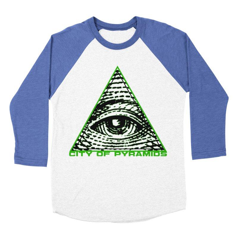 Eyeconic All Seeing Eye Men's Baseball Triblend Longsleeve T-Shirt by City of Pyramids's Artist Shop