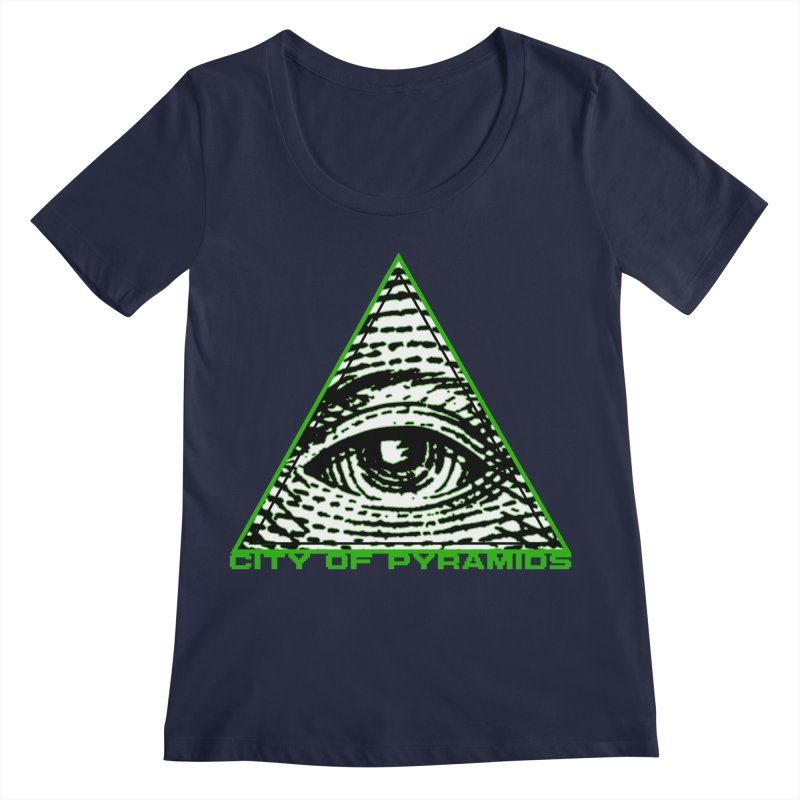 Eyeconic All Seeing Eye Women's Regular Scoop Neck by City of Pyramids's Artist Shop