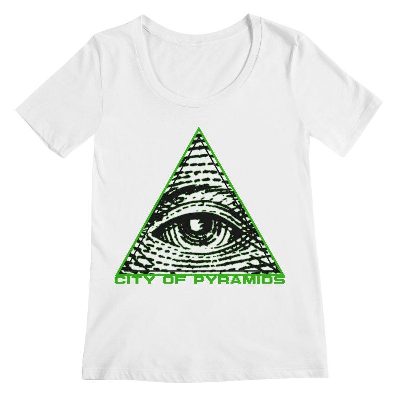 Eyeconic All Seeing Eye Women's Regular Scoop Neck by City of Pyramids's Artist Shop