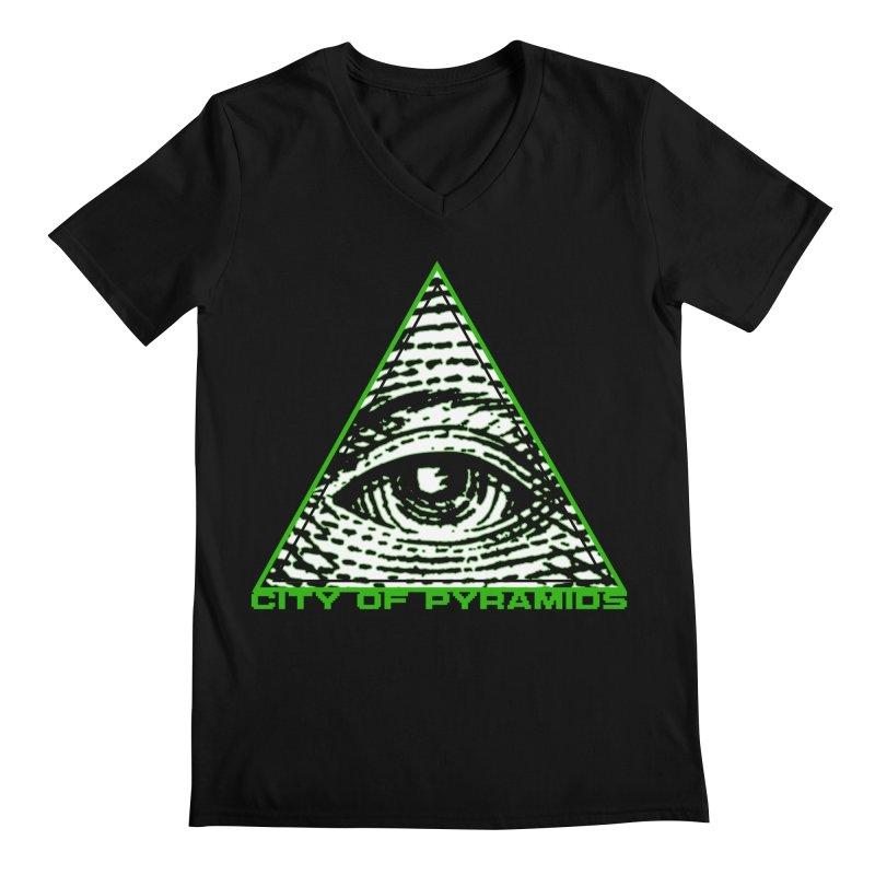 Eyeconic All Seeing Eye Men's Regular V-Neck by City of Pyramids's Artist Shop