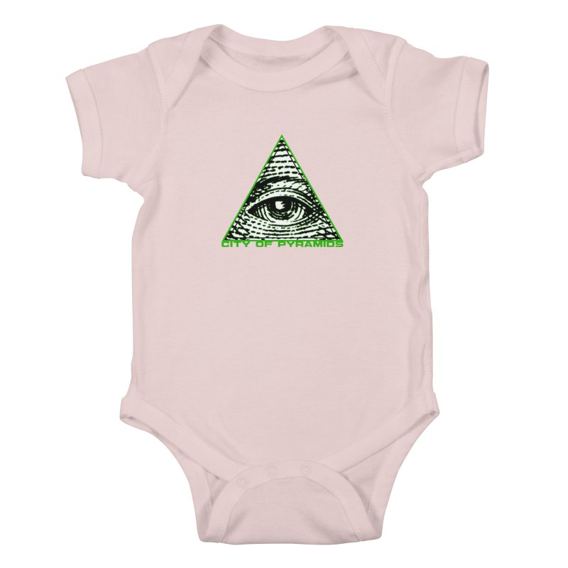 Eyeconic All Seeing Eye Kids Baby Bodysuit by City of Pyramids's Artist Shop