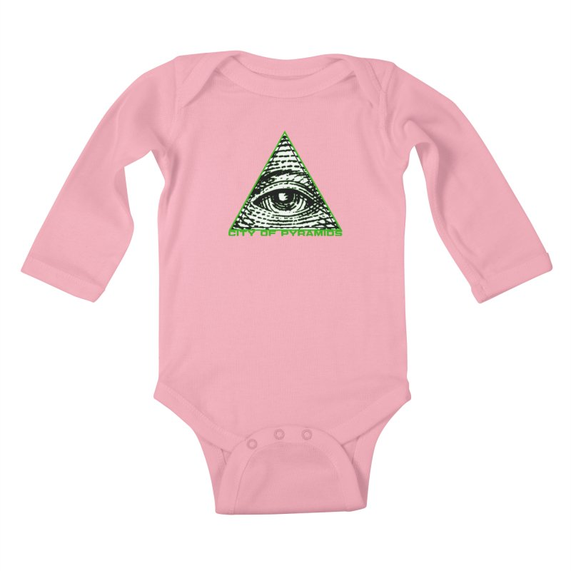 Eyeconic All Seeing Eye Kids Baby Longsleeve Bodysuit by City of Pyramids's Artist Shop