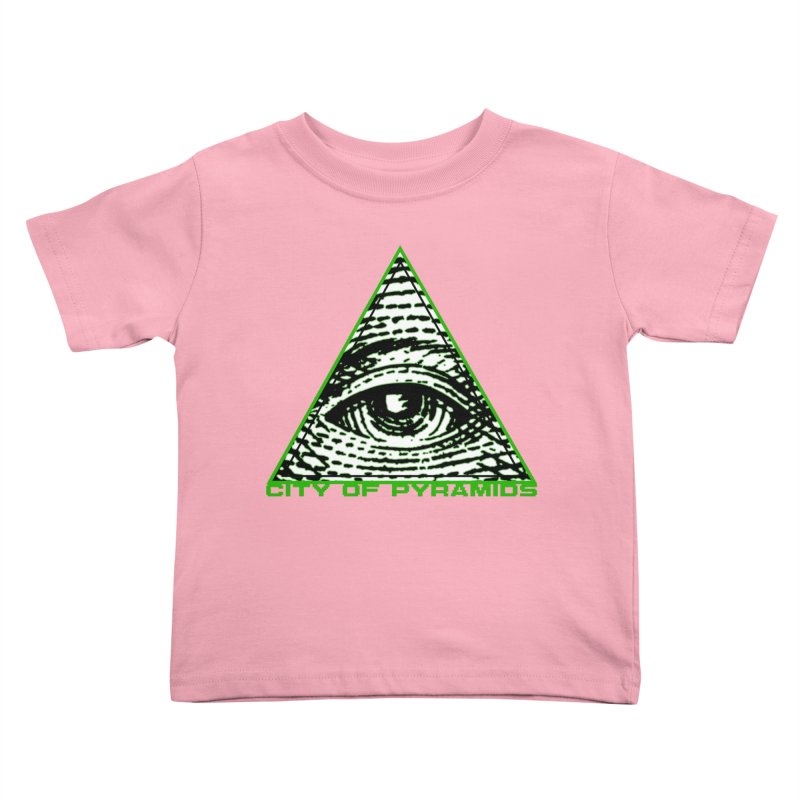 Eyeconic All Seeing Eye Kids Toddler T-Shirt by City of Pyramids's Artist Shop