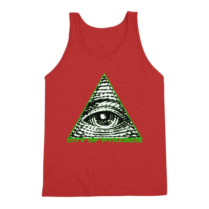 Eyeconic All Seeing Eye Men's Triblend Tank by City of Pyramids's Artist Shop