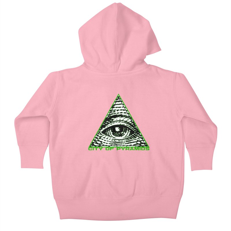 Eyeconic All Seeing Eye Kids Baby Zip-Up Hoody by City of Pyramids's Artist Shop
