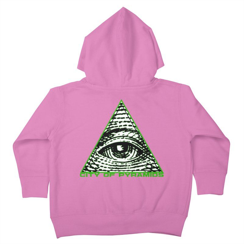Eyeconic All Seeing Eye Kids Toddler Zip-Up Hoody by City of Pyramids's Artist Shop