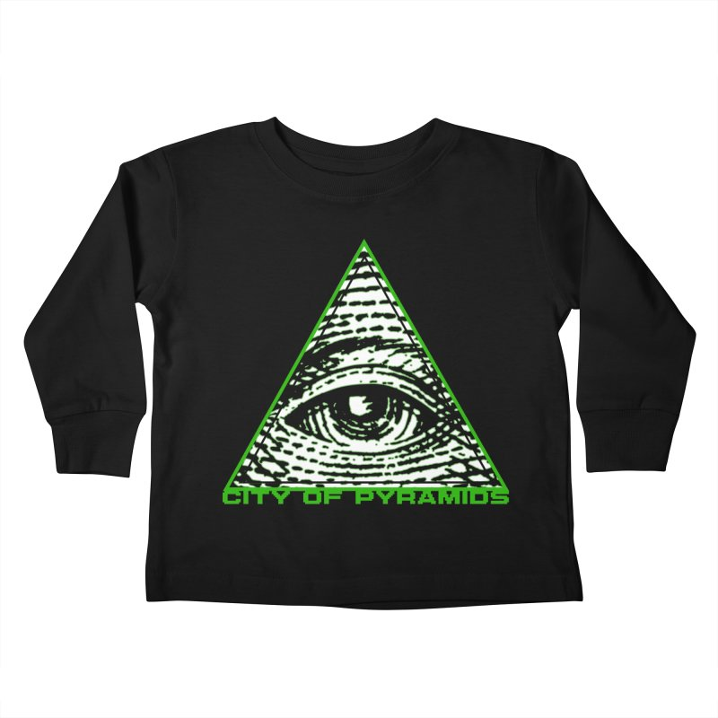 Eyeconic All Seeing Eye Kids Toddler Longsleeve T-Shirt by City of Pyramids's Artist Shop