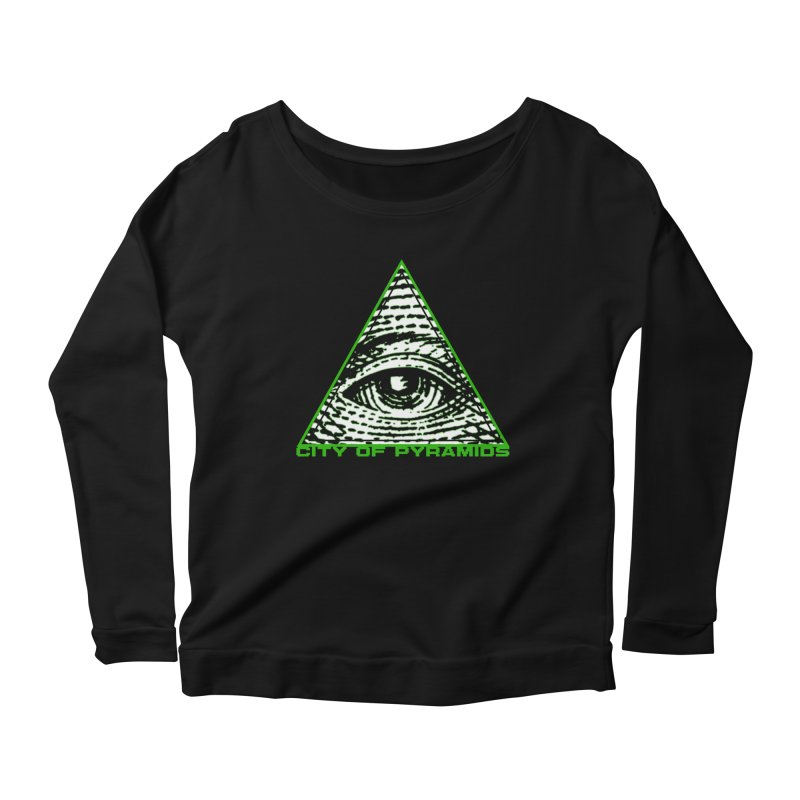 Eyeconic All Seeing Eye Women's Scoop Neck Longsleeve T-Shirt by City of Pyramids's Artist Shop