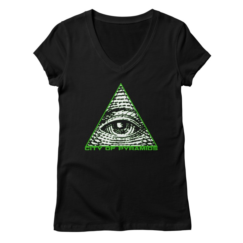 Eyeconic All Seeing Eye Women's V-Neck by City of Pyramids's Artist Shop