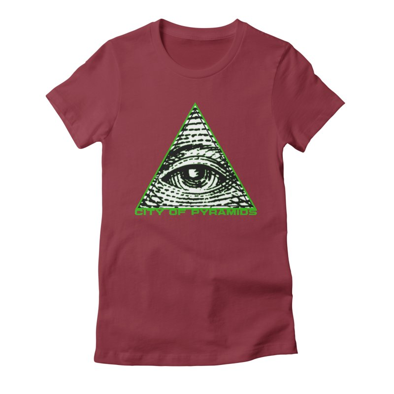 Eyeconic All Seeing Eye Women's Fitted T-Shirt by City of Pyramids's Artist Shop