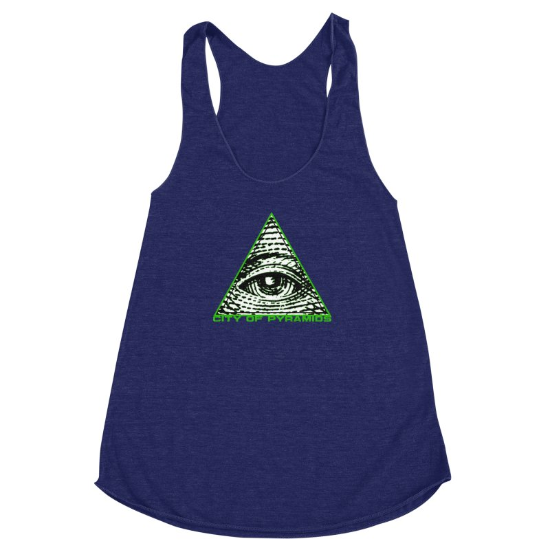 Eyeconic All Seeing Eye Women's Racerback Triblend Tank by City of Pyramids's Artist Shop