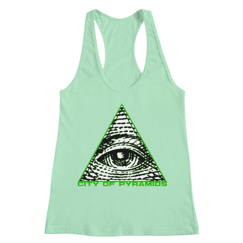 Eyeconic All Seeing Eye Women's Racerback Tank by City of Pyramids's Artist Shop