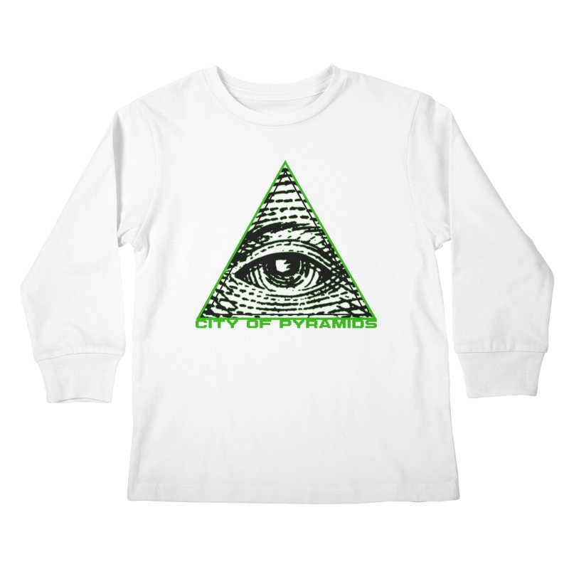 Eyeconic All Seeing Eye Kids Longsleeve T-Shirt by City of Pyramids's Artist Shop