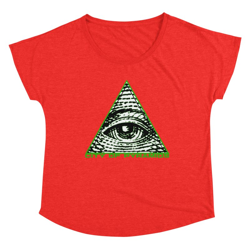Eyeconic All Seeing Eye Women's Scoop Neck by City of Pyramids's Artist Shop