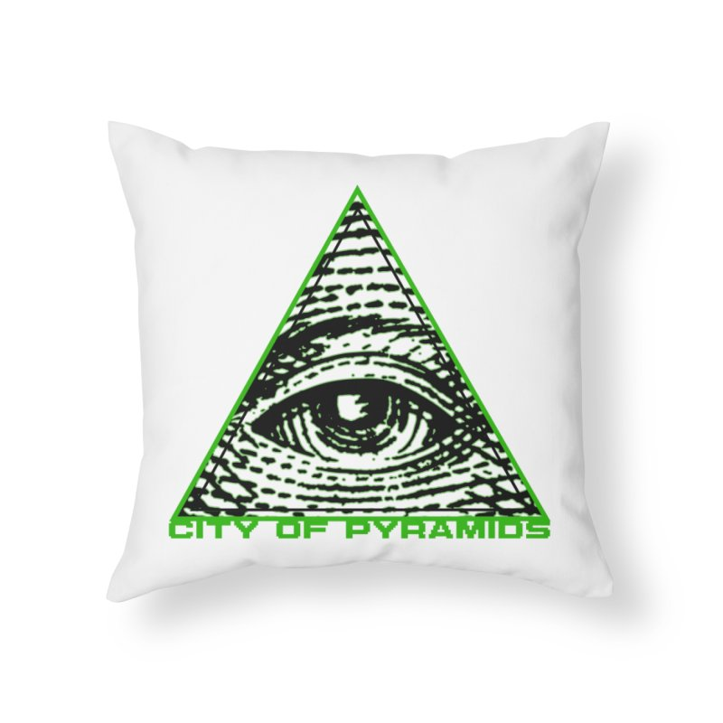 Eyeconic All Seeing Eye Home Throw Pillow by City of Pyramids's Artist Shop