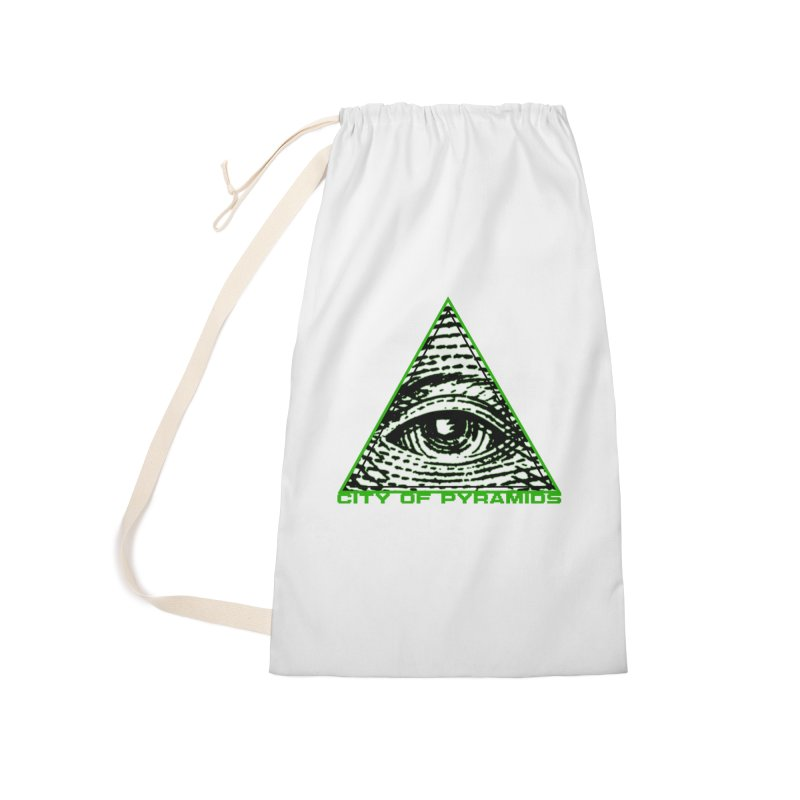 Eyeconic All Seeing Eye Accessories Bag by City of Pyramids's Artist Shop