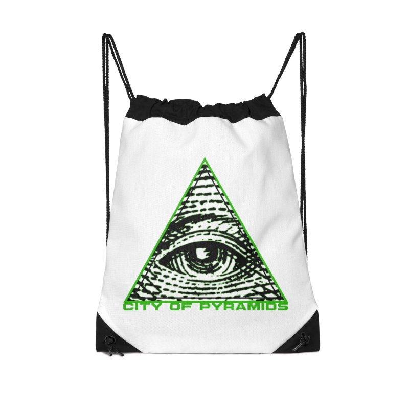 Eyeconic All Seeing Eye Accessories Drawstring Bag Bag by City of Pyramids's Artist Shop