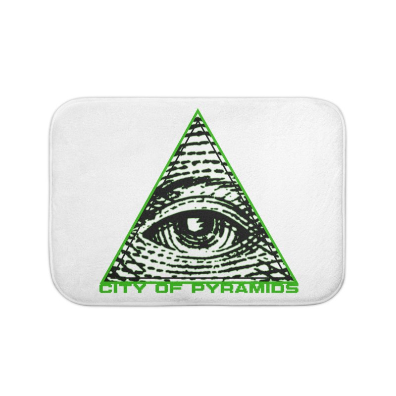 Eyeconic All Seeing Eye Home Bath Mat by City of Pyramids's Artist Shop