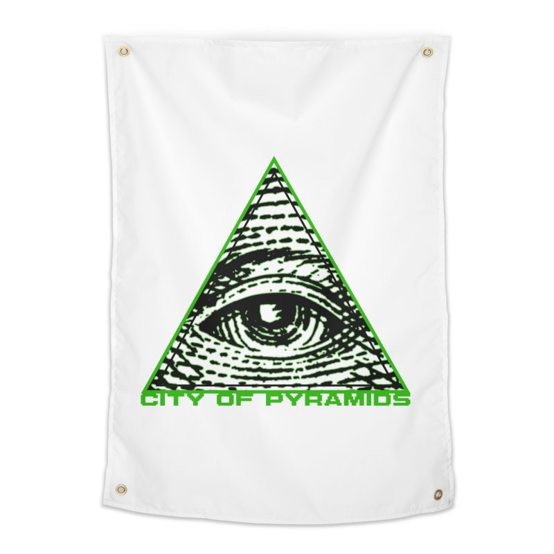 Eyeconic All Seeing Eye Home Tapestry by City of Pyramids's Artist Shop