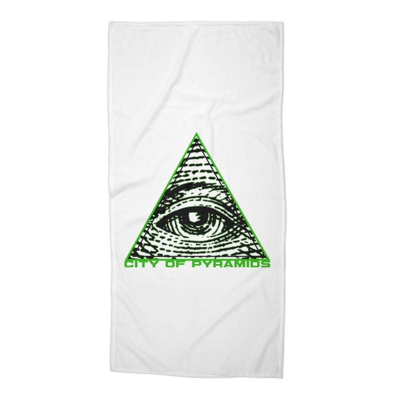 Eyeconic All Seeing Eye Accessories Beach Towel by City of Pyramids's Artist Shop