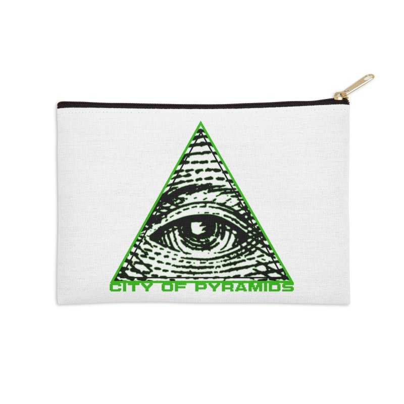 Eyeconic All Seeing Eye Accessories Zip Pouch by City of Pyramids's Artist Shop