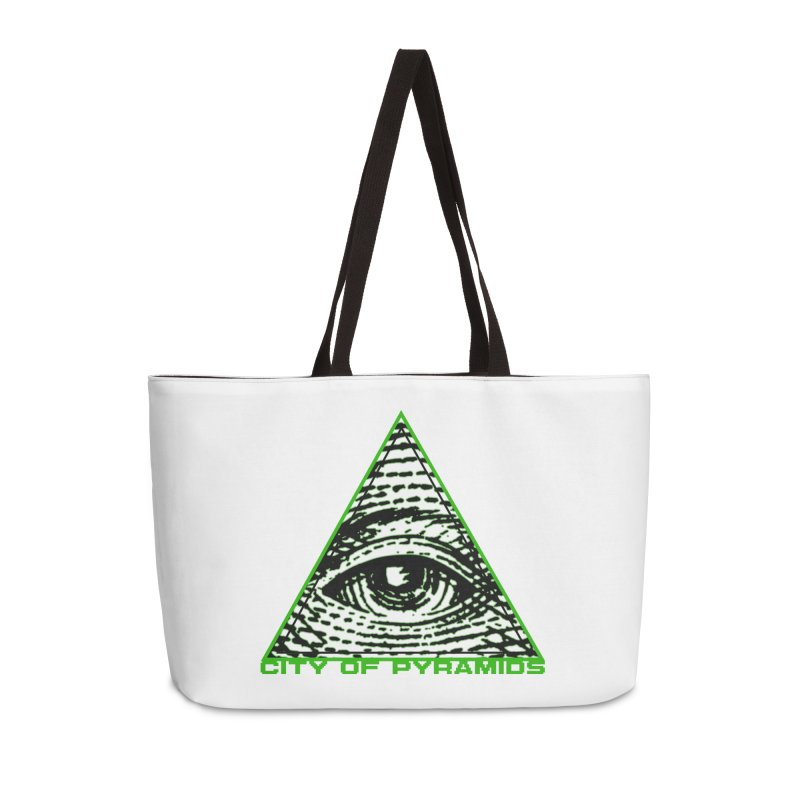 Eyeconic All Seeing Eye Accessories Weekender Bag Bag by City of Pyramids's Artist Shop