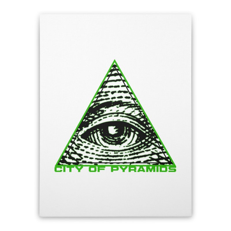 Eyeconic All Seeing Eye Home Stretched Canvas by City of Pyramids's Artist Shop