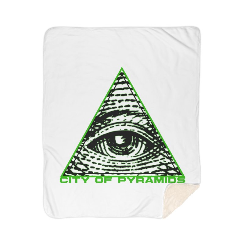 Eyeconic All Seeing Eye Home Sherpa Blanket Blanket by City of Pyramids's Artist Shop