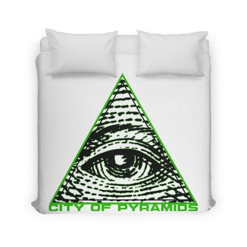 Eyeconic All Seeing Eye Home Duvet by City of Pyramids's Artist Shop