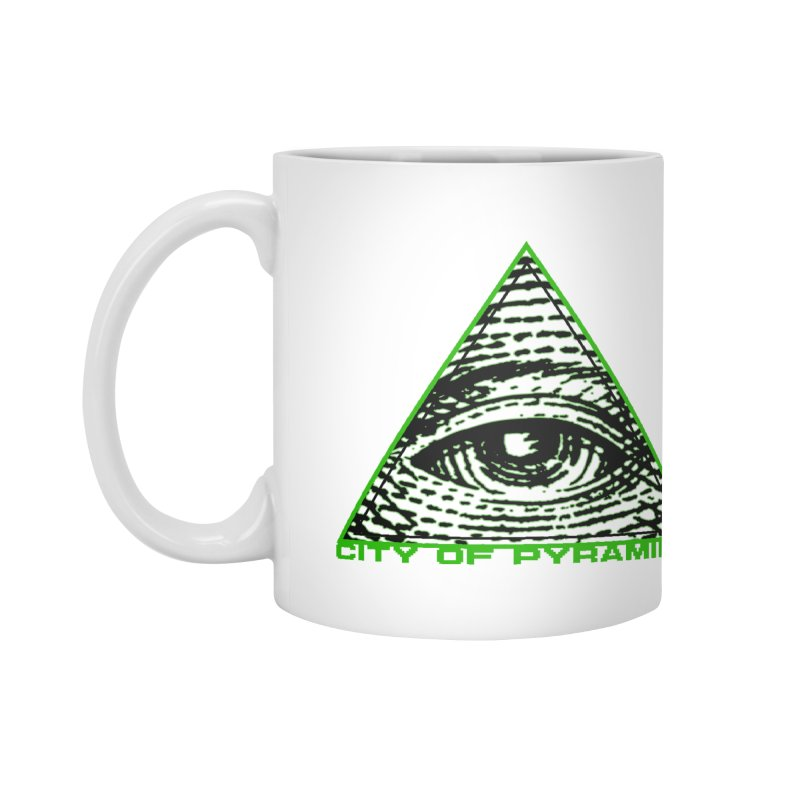 Eyeconic All Seeing Eye Accessories Mug by City of Pyramids's Artist Shop