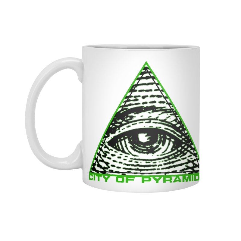Eyeconic All Seeing Eye Accessories Standard Mug by City of Pyramids's Artist Shop