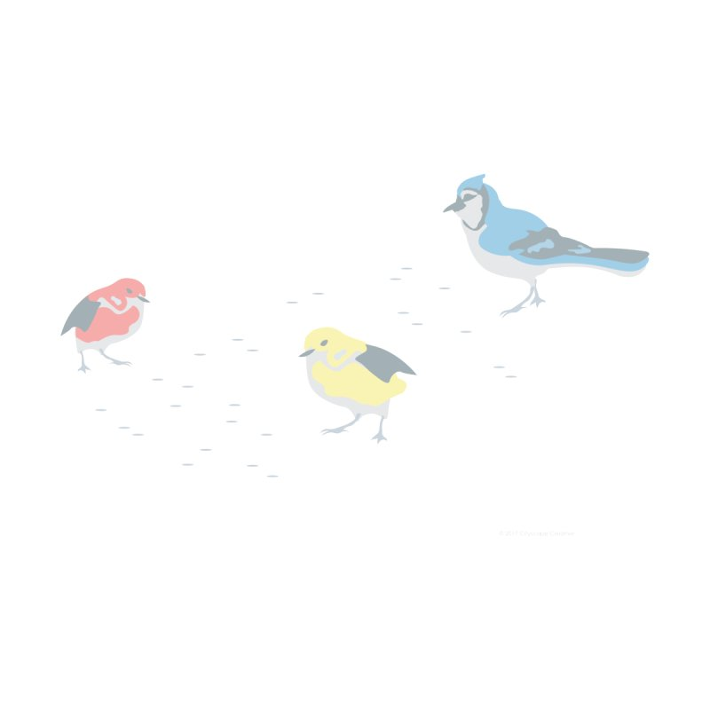 Little Birds (Primary Colors) Home Fine Art Print by cityscapecreative's Artist Shop