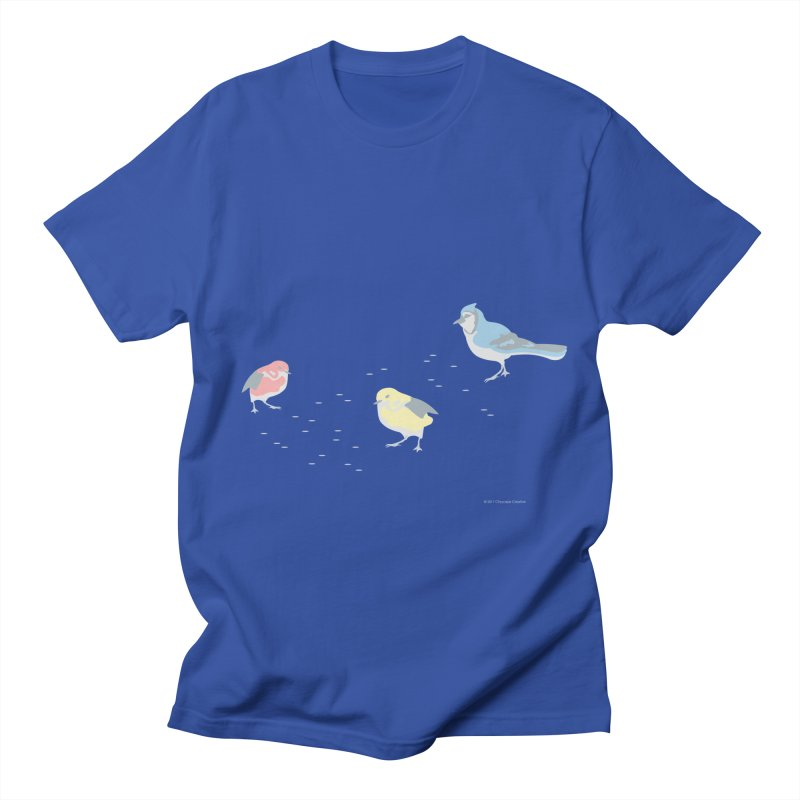 Little Birds (Primary Colors) Men's T-Shirt by cityscapecreative's Artist Shop