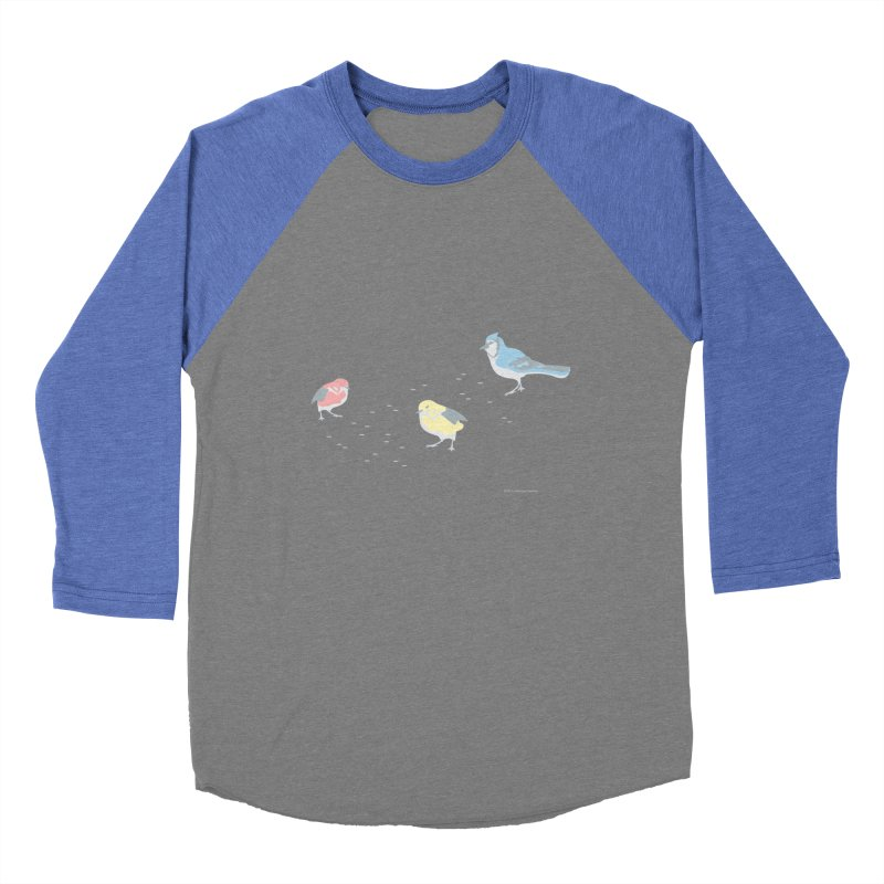 Little Birds (Primary Colors) Women's Baseball Triblend Longsleeve T-Shirt by cityscapecreative's Artist Shop