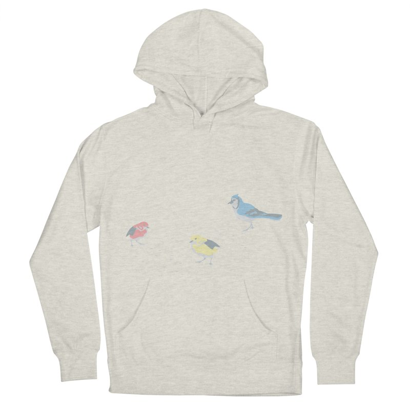 Little Birds (Primary Colors) Men's French Terry Pullover Hoody by cityscapecreative's Artist Shop
