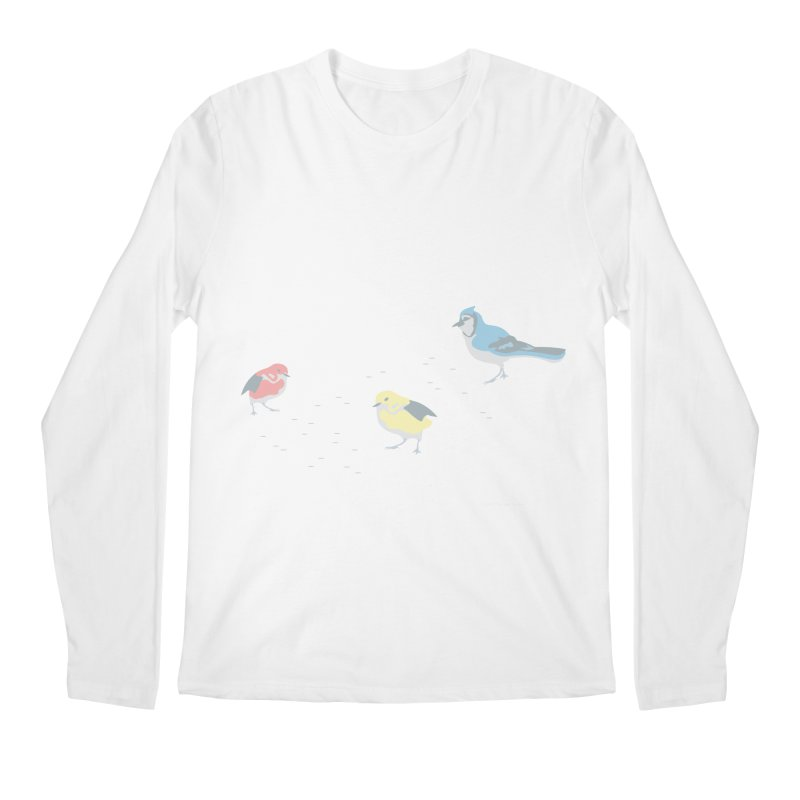 Little Birds (Primary Colors) Men's Longsleeve T-Shirt by cityscapecreative's Artist Shop
