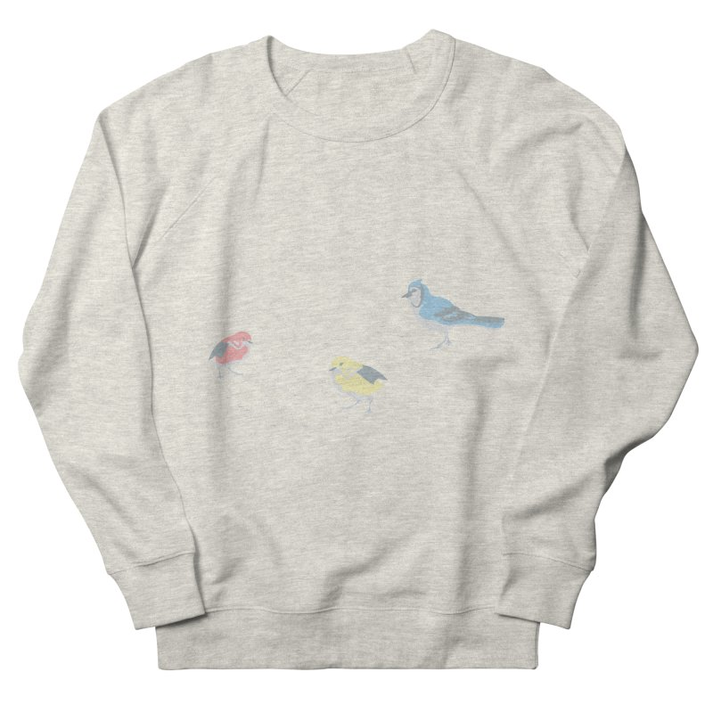Little Birds (Primary Colors) Men's French Terry Sweatshirt by cityscapecreative's Artist Shop